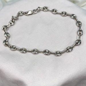 """Other - Sterling Silver Mariner Link Bracelet 9"""""""